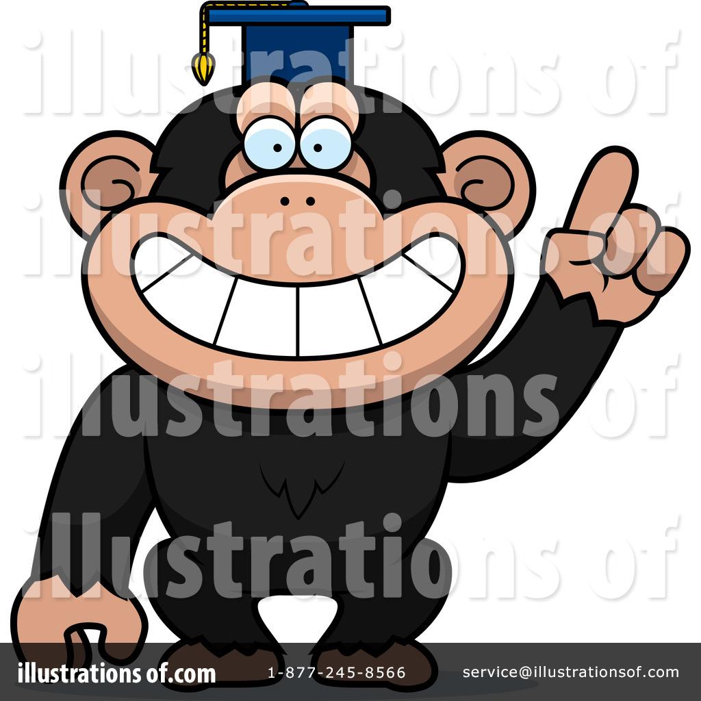 chimpanzee clipart 1109690 illustration by cory thoman rh illustrationsof com