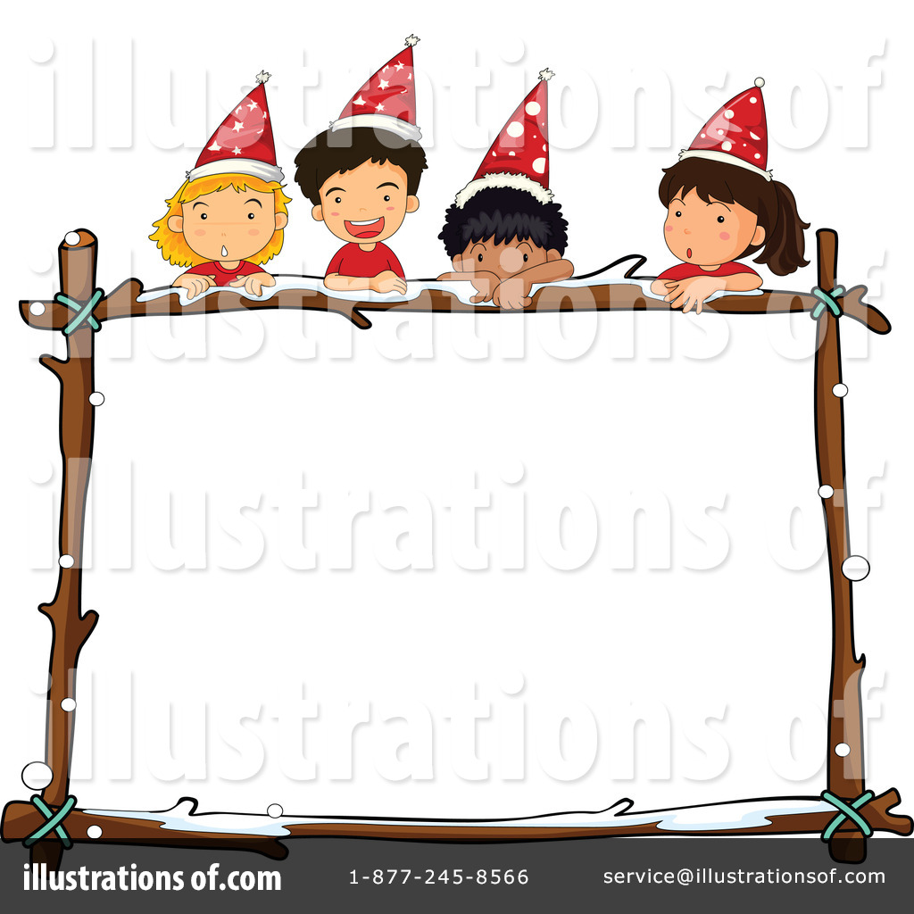 Royalty Free (RF) Christmas Border Clipart Illustration By Graphics RF    Stock Sample