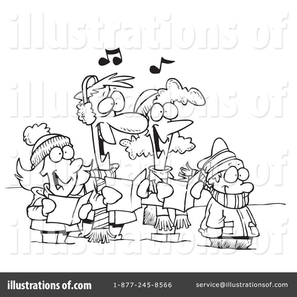 Christmas Carols Clipart #1046847 - Illustration by Ron Leishman