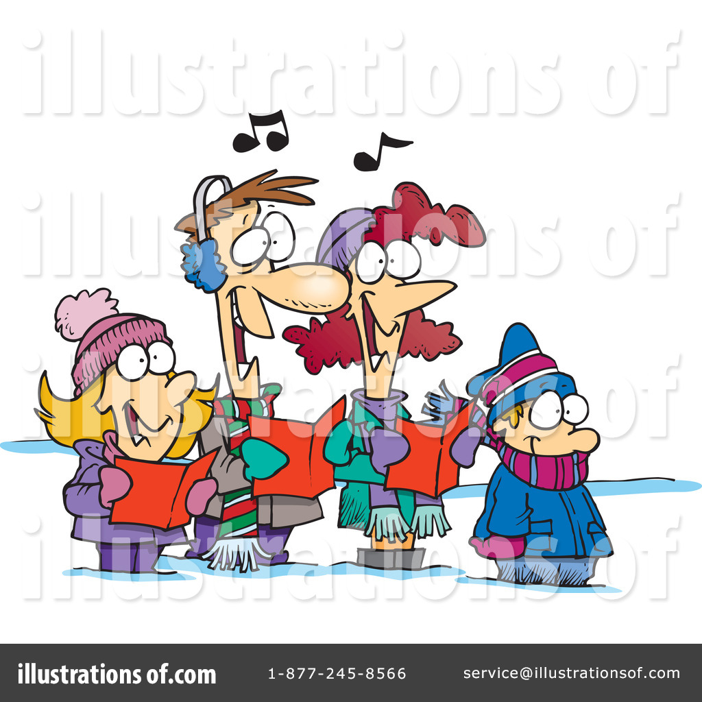 Christmas Carols Clipart #1046869 - Illustration by Ron Leishman