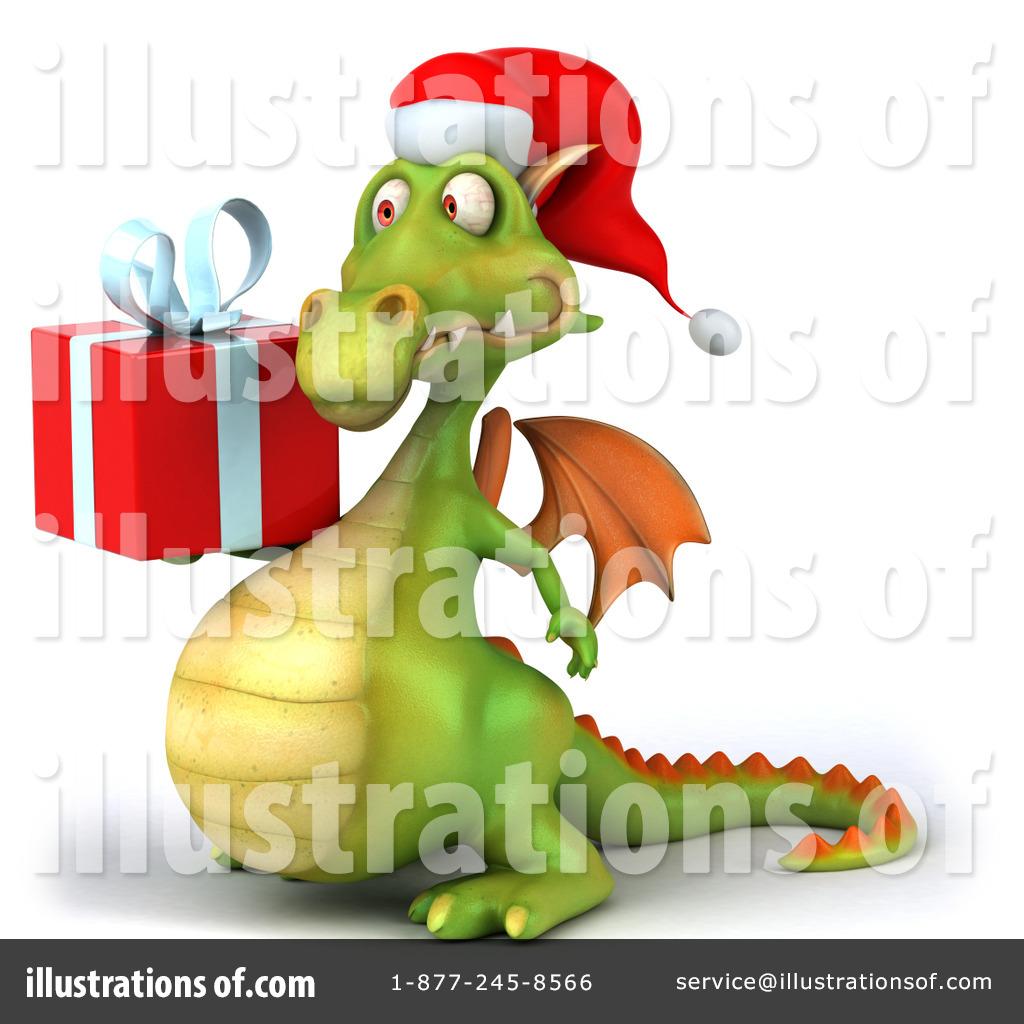 Christmas Dragon.Christmas Dragon Clipart 436896 Illustration By Julos