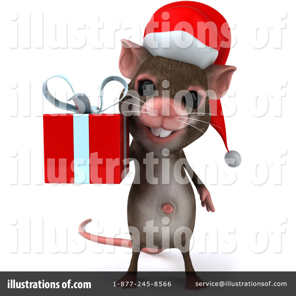 Christmas Mouse Clipart #436904 - Illustration by Julos