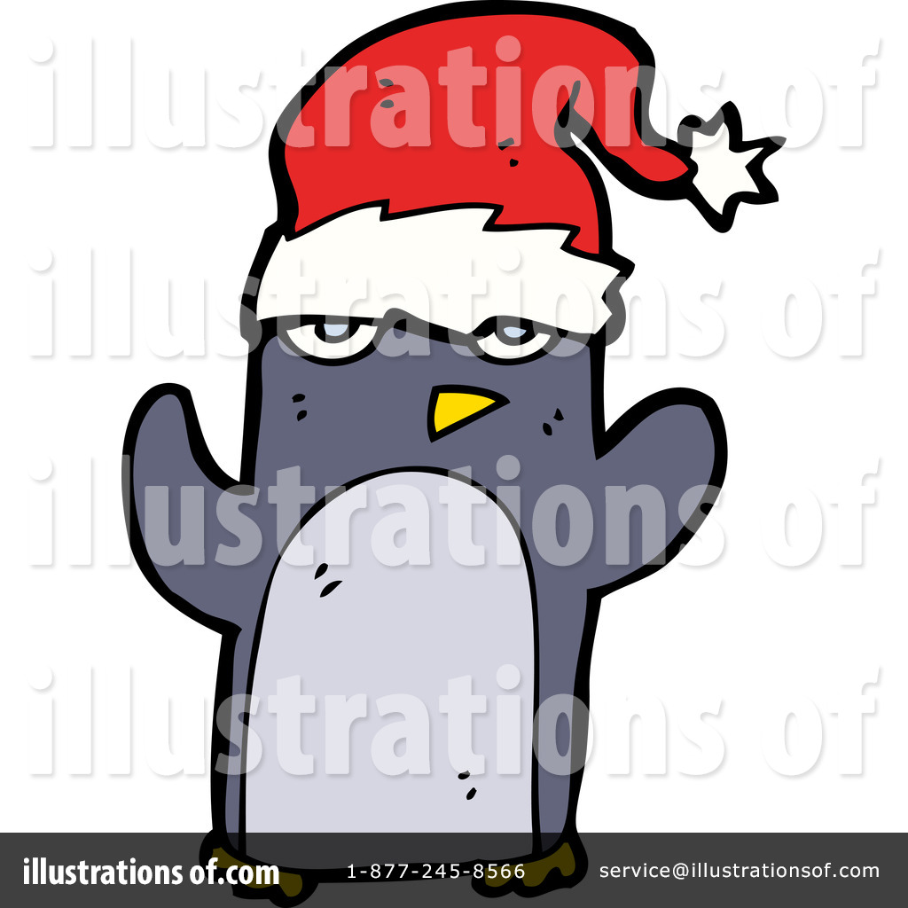 Christmas Penguin Clipart #1117857 - Illustration by lineartestpilot