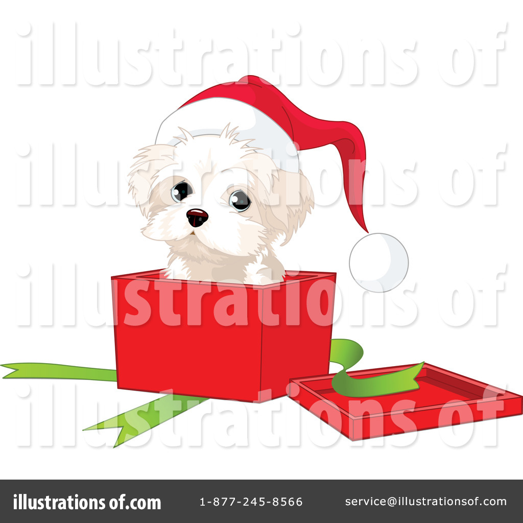 Christmas Puppy Clipart 73132 Illustration By Pushkin