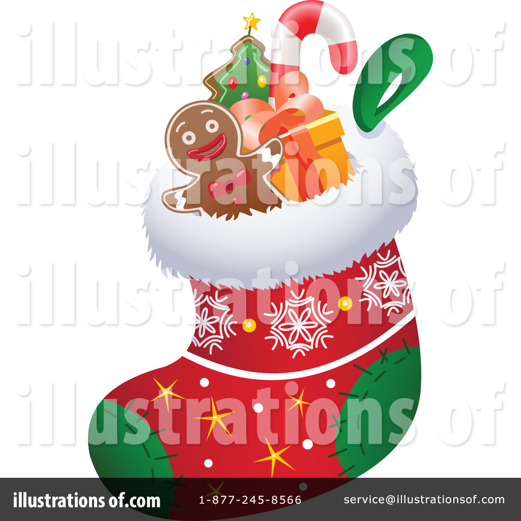 Christmas Stockings Clipart #1091719 - Illustration by Steve Klinkel