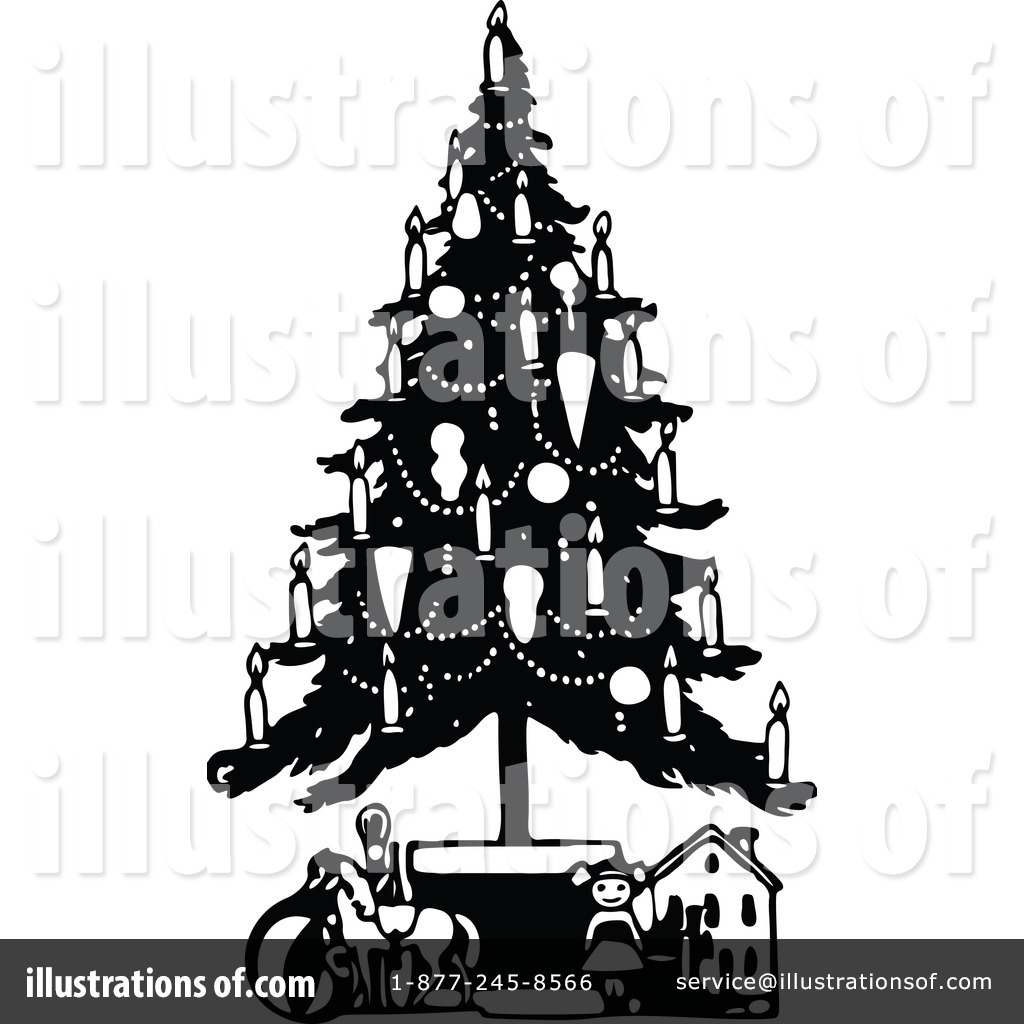 christmas tree clipart 1197510 illustration by prawny vintage