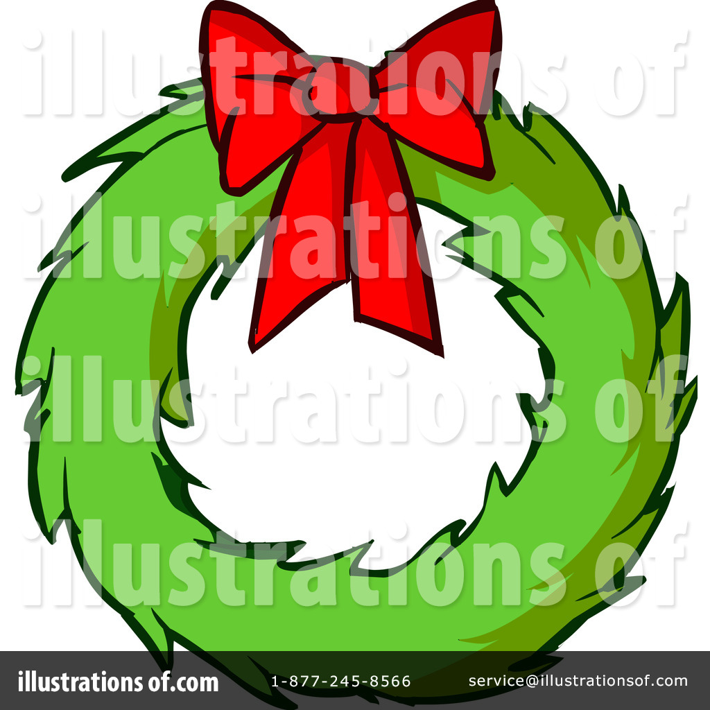Christmas wreath cartoon. Clipart illustration by solutions