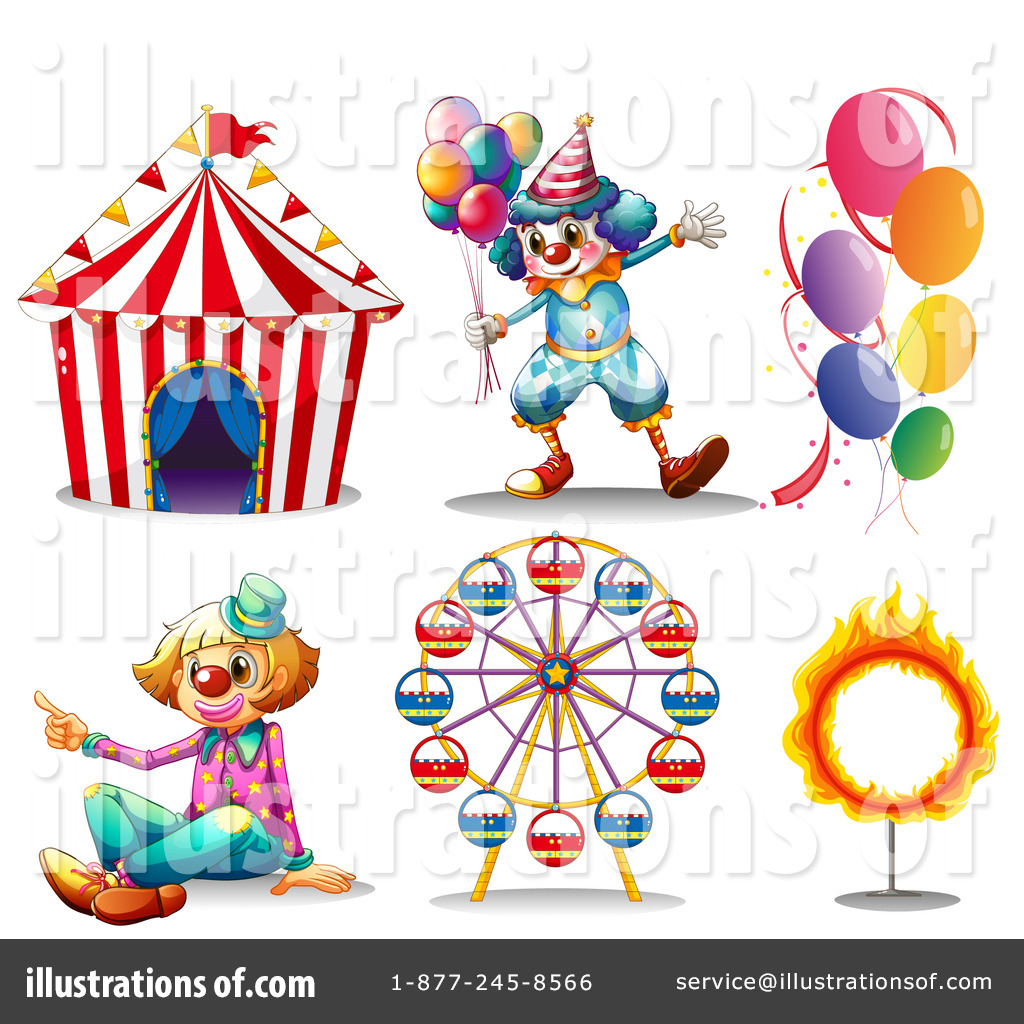 Circus Clipart #1205777 - Illustration by colematt