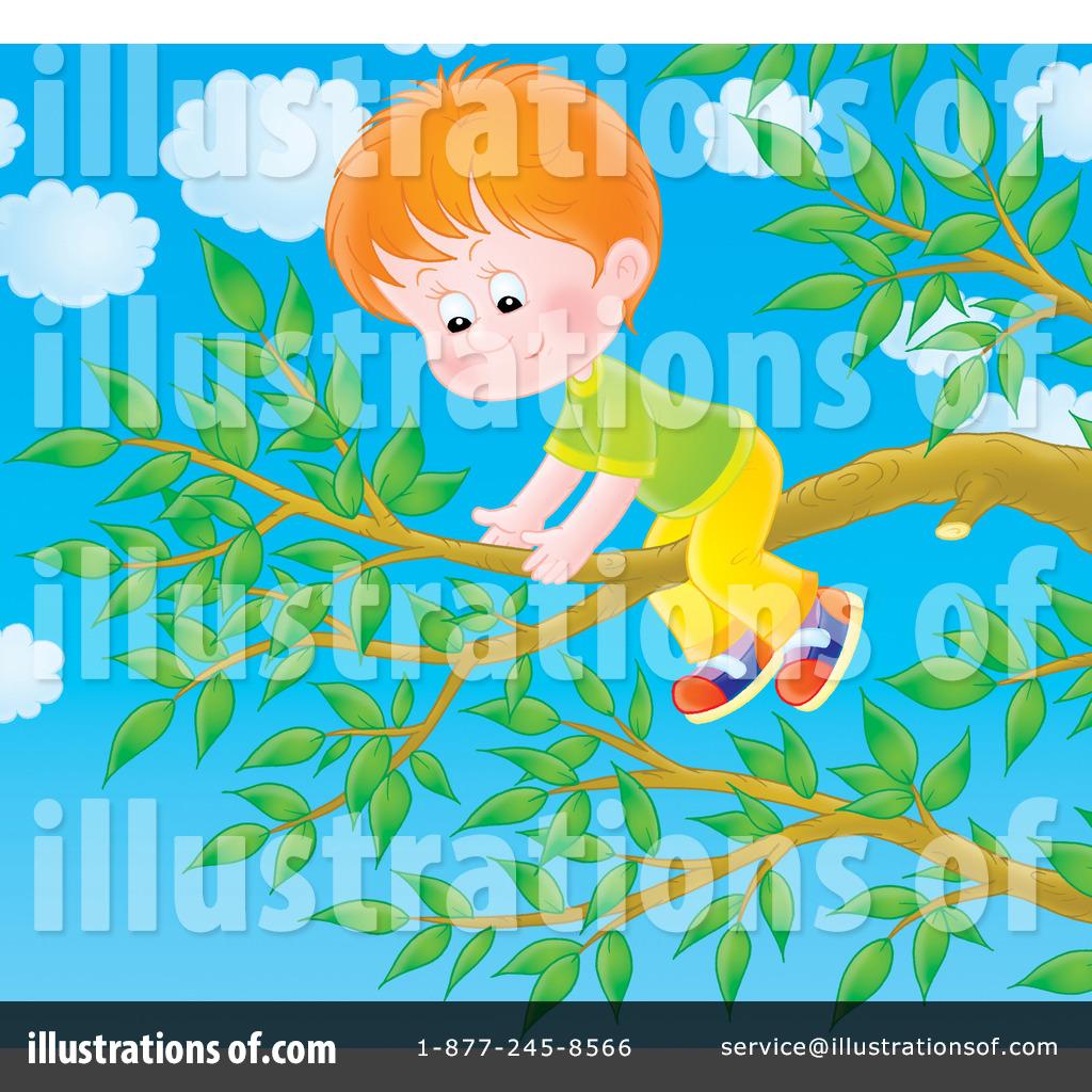 Climbing A Tree Clipart 229848 Illustration By Alex Bannykh