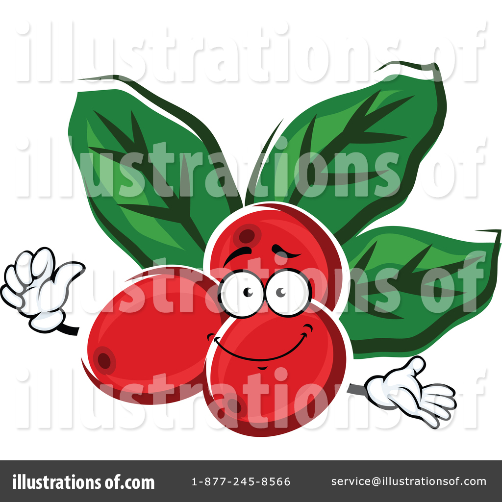 Coffee Berry Clipart #1355101 - Illustration by Vector Tradition SM
