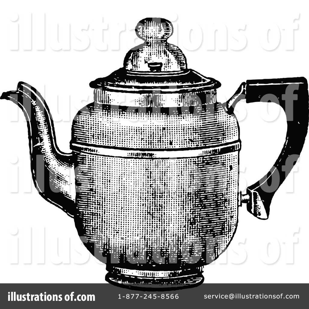 Royalty Free RF Coffee Pot Clipart Illustration By Prawny Vintage