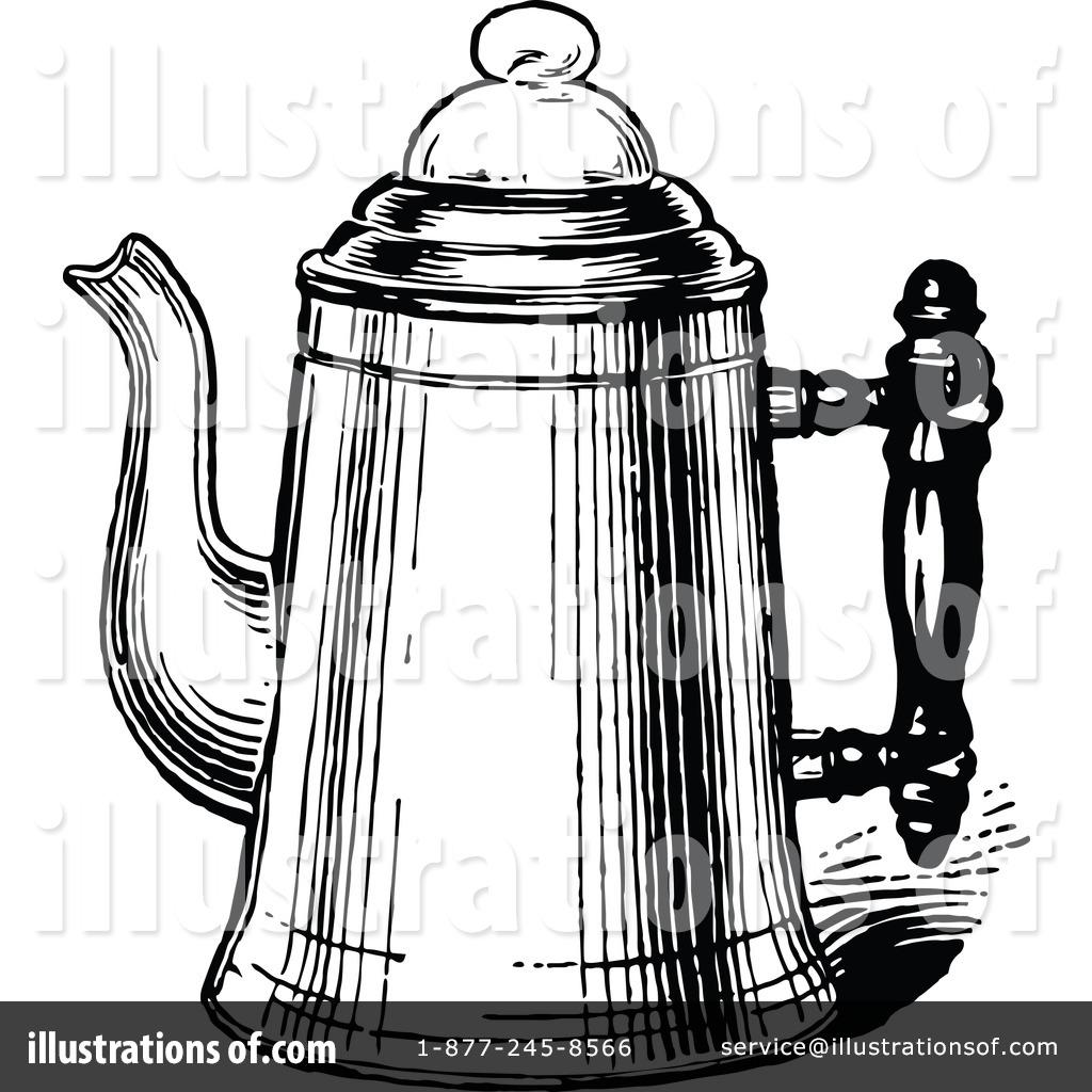 Coffee Pot Clipart #1121124 - Illustration by Prawny Vintage