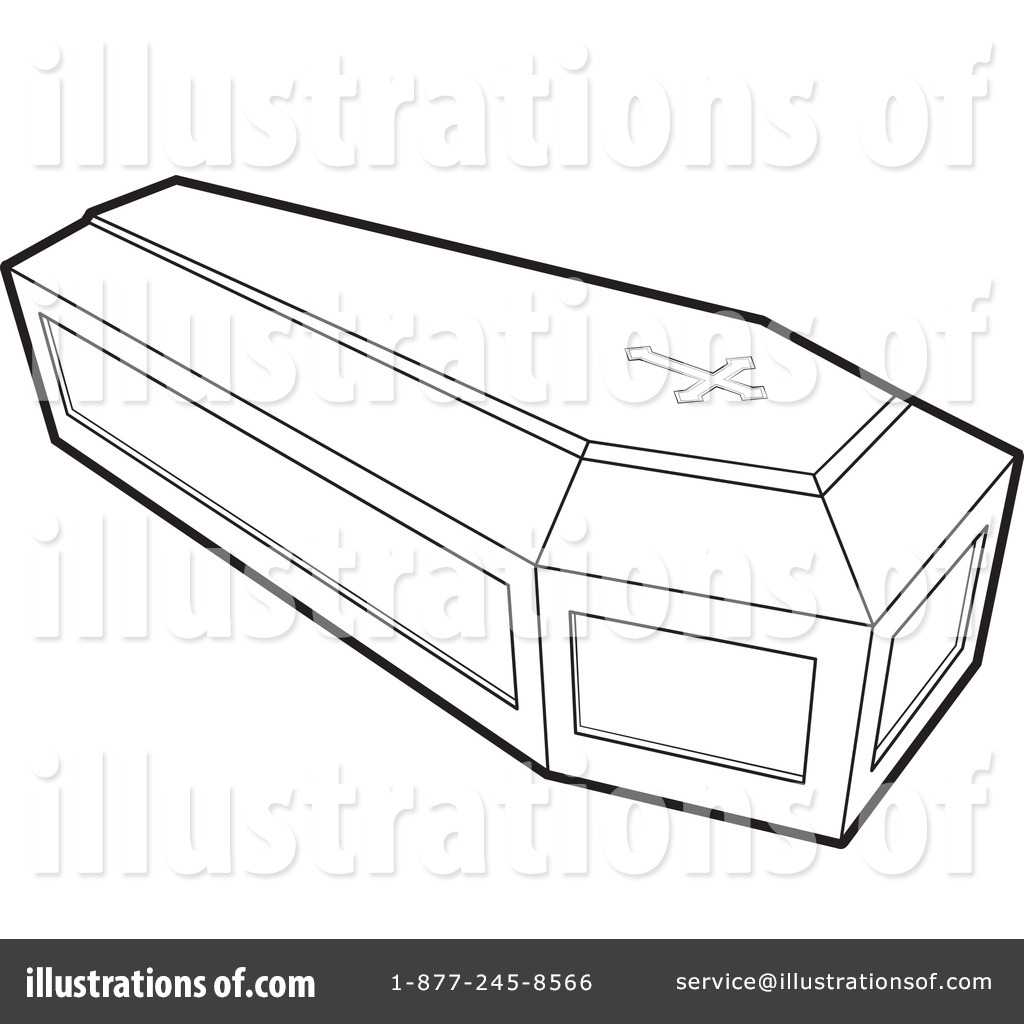 coffin clipart 1054589 illustration by lal perera