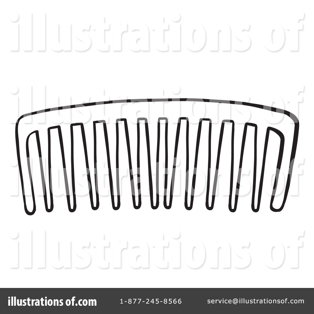 Comb Clipart #1254872 - Illustration by colematt