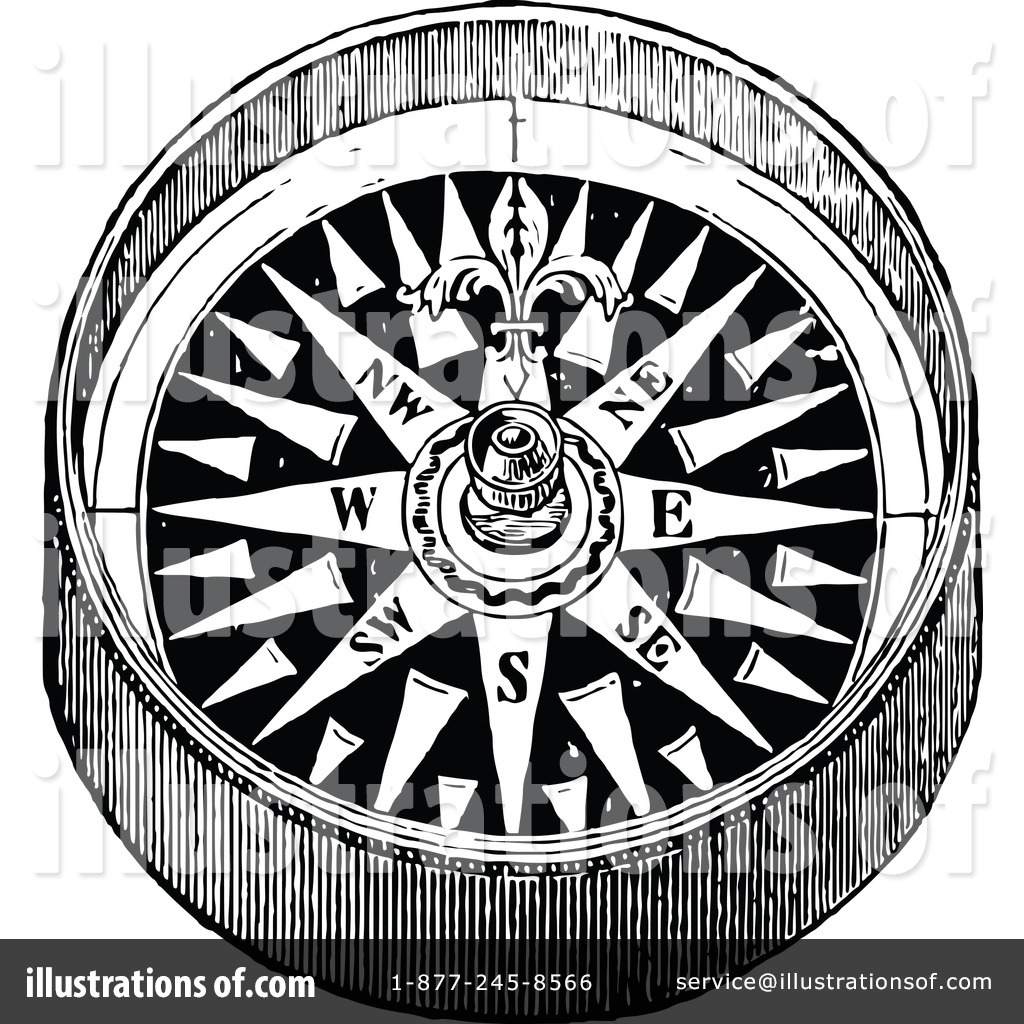 Royalty Free RF Compass Clipart Illustration 1113881 By Prawny Vintage