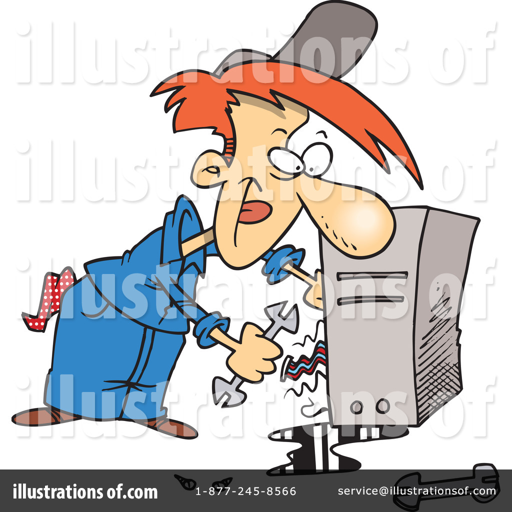 Computer Repair Clipart #442144 - Illustration by Ron Leishman