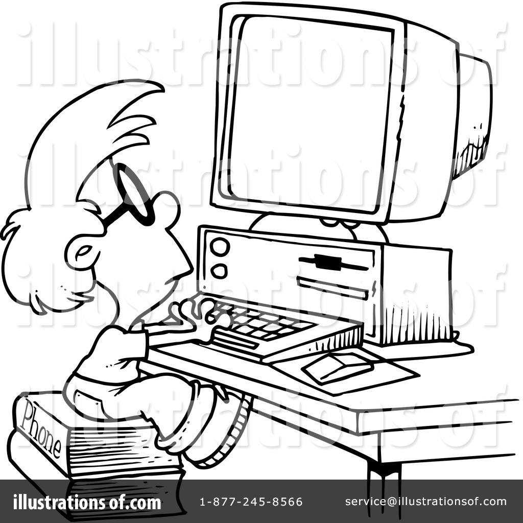 Computers Clipart #1046264 - Illustration by Ron Leishman