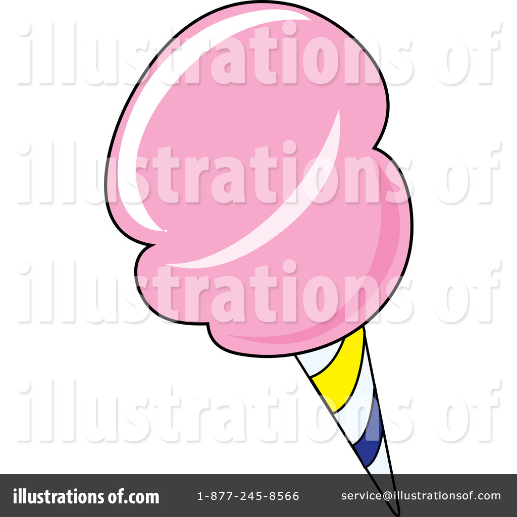 Cotton Candy Clipart #76507 - Illustration by Pams Clipart