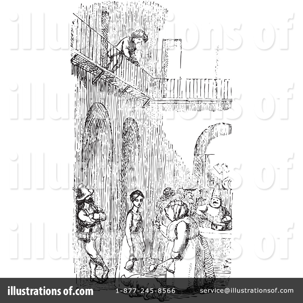 Courtyard Clipart #1136128 - Illustration by Picsburg