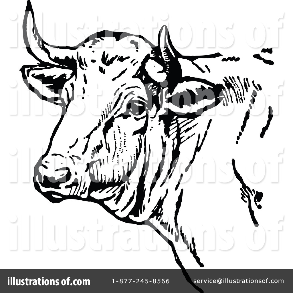 Cow Clipart #1120846 - Illustration by Prawny Vintage