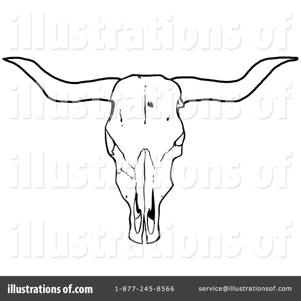 cow skull clipart 1402944 illustration by lafftoon