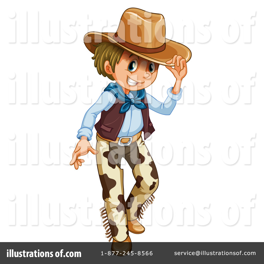 Cowboy Clipart #1234415 - Illustration by colematt