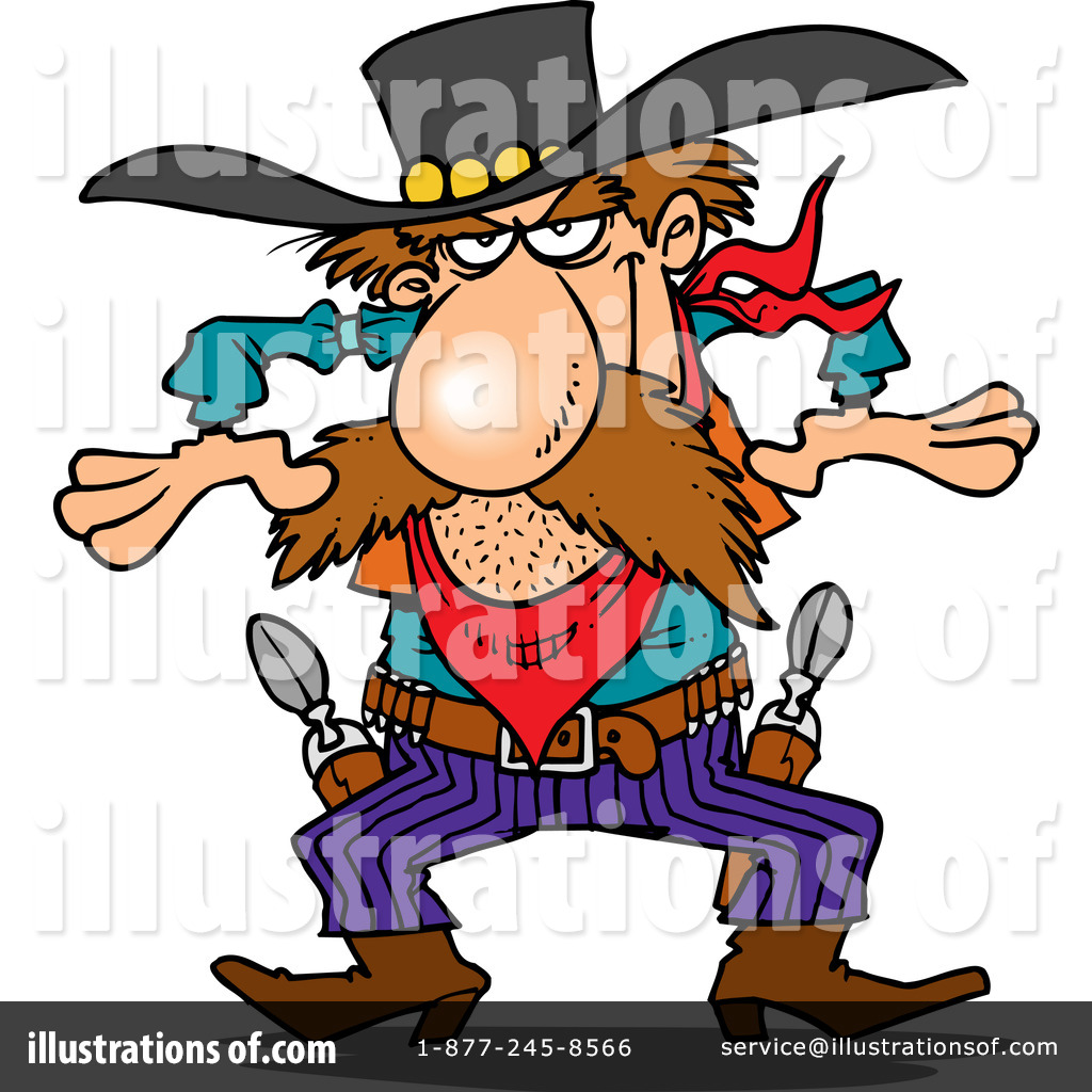 Cowboy Clipart #440268 - Illustration by Ron Leishman