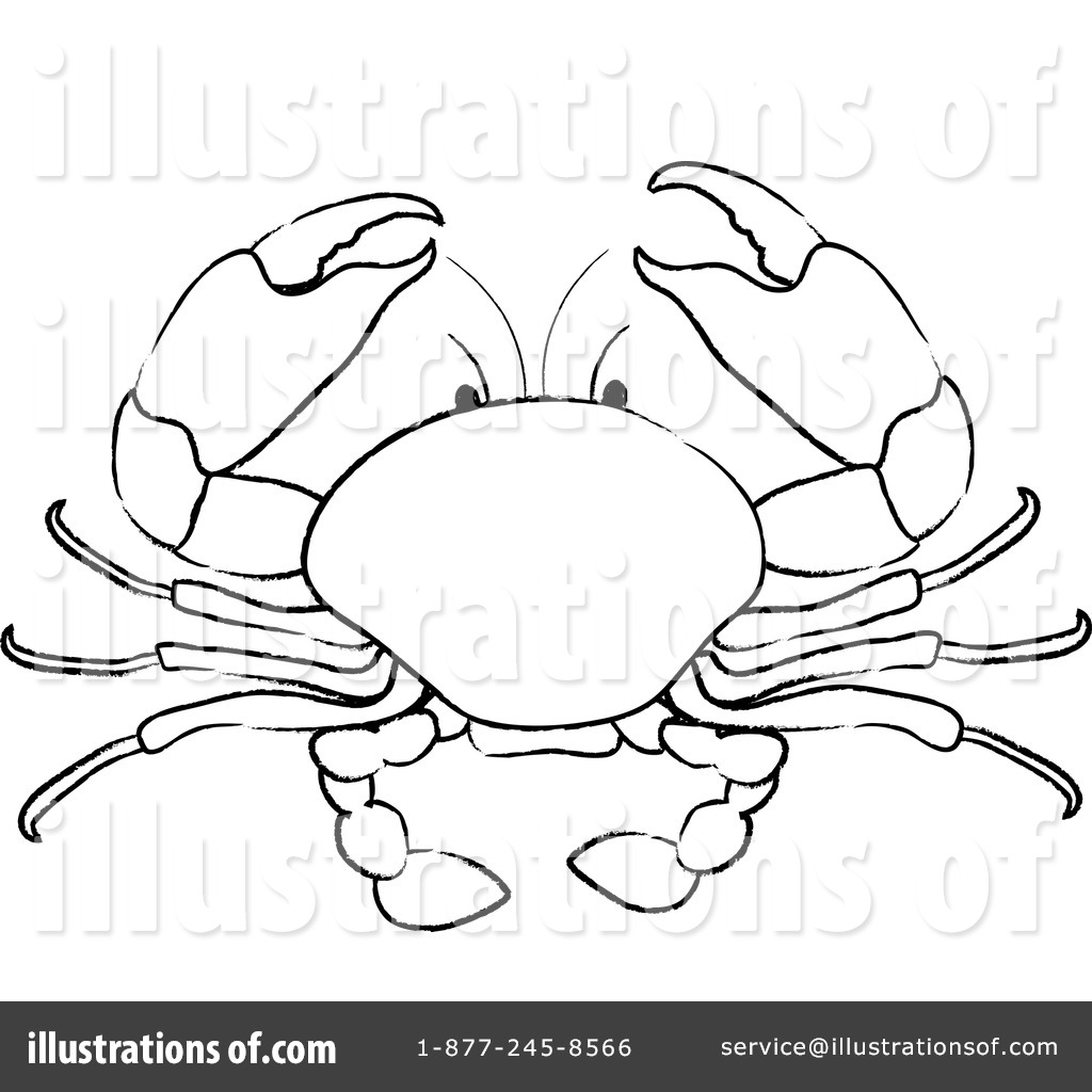 crab clipart 100573 illustration by pams clipart