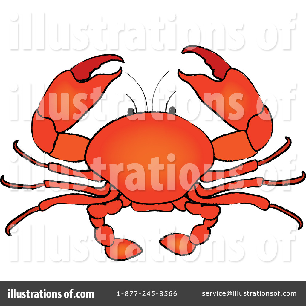 Royalty-Free (RF) Crab Clipart Illustration #100608 by Pams Clipart