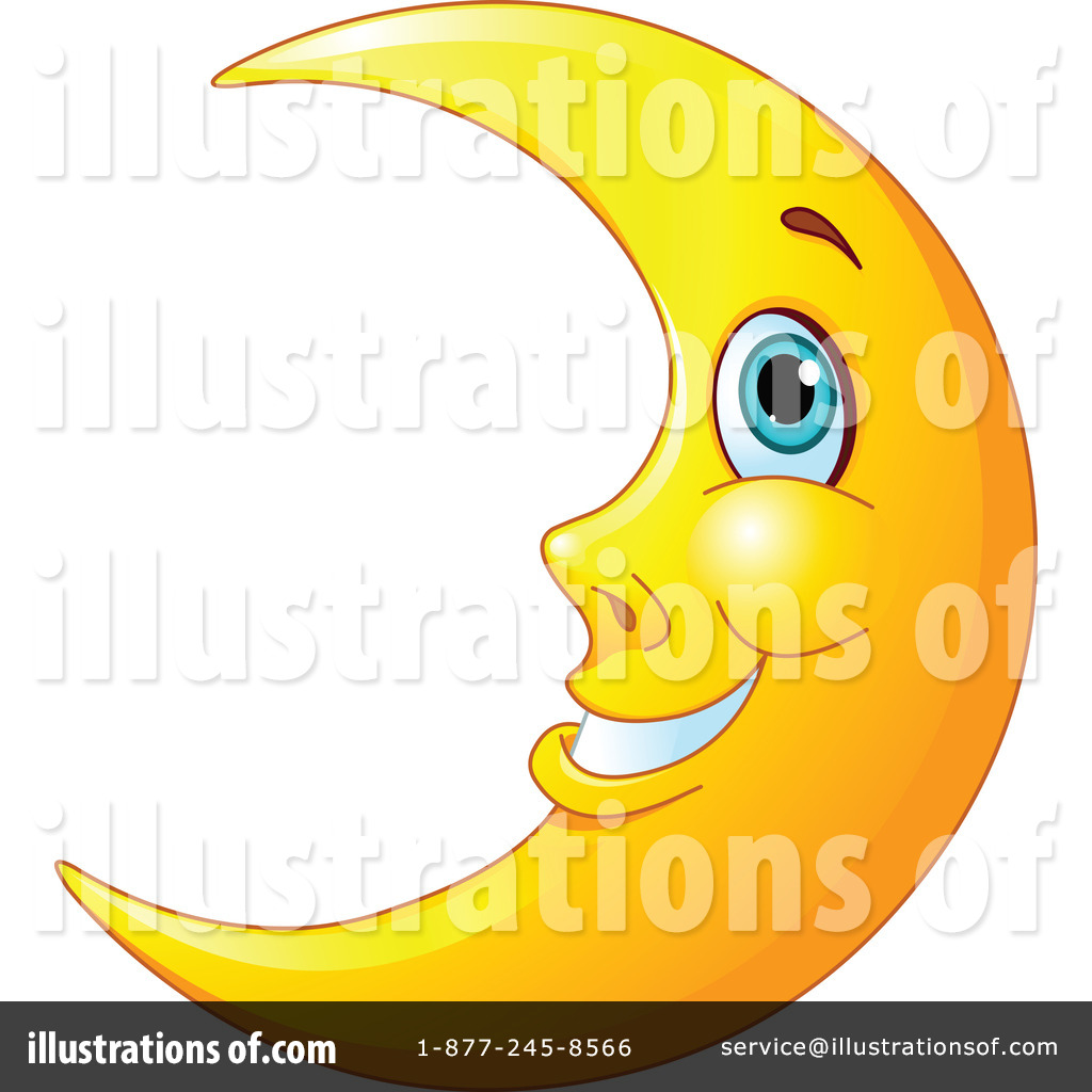 crescent moon clipart 1215673 illustration by pushkin rh illustrationsof com crescent moon and star clipart crescent moon shape clipart