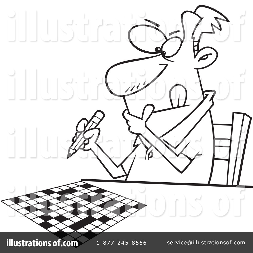 Crossword Puzzle Clipart #1290124 - Illustration by toonaday