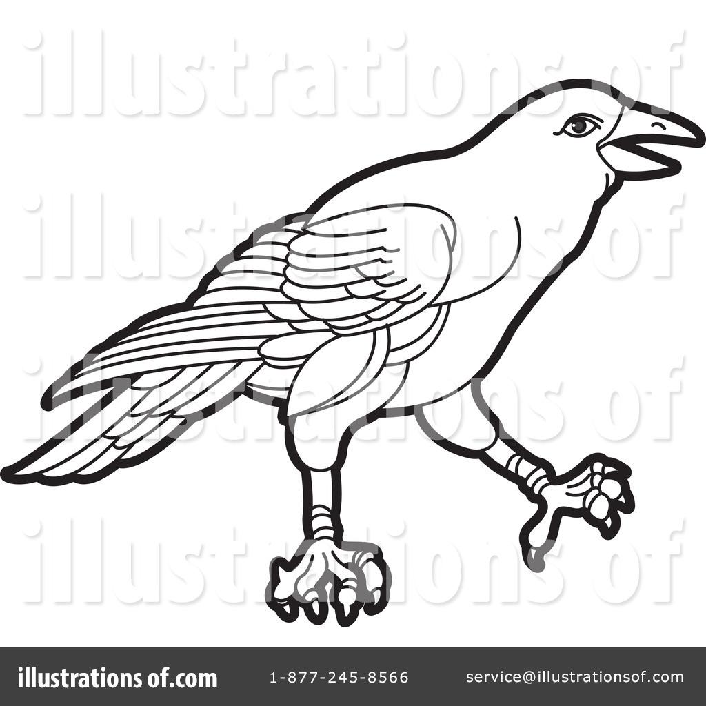 Crow Clipart #434899 - Illustration by Lal Perera