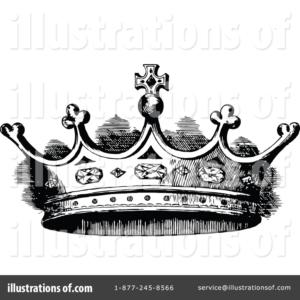 Crown Clipart #1112562 - Illustration by Prawny Vintage
