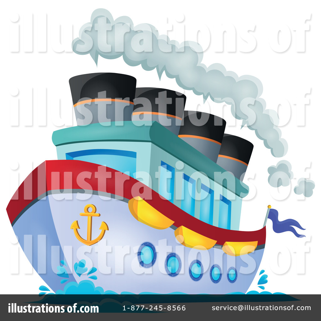 Cruise Ship Clipart #1322241 - Illustration by visekart