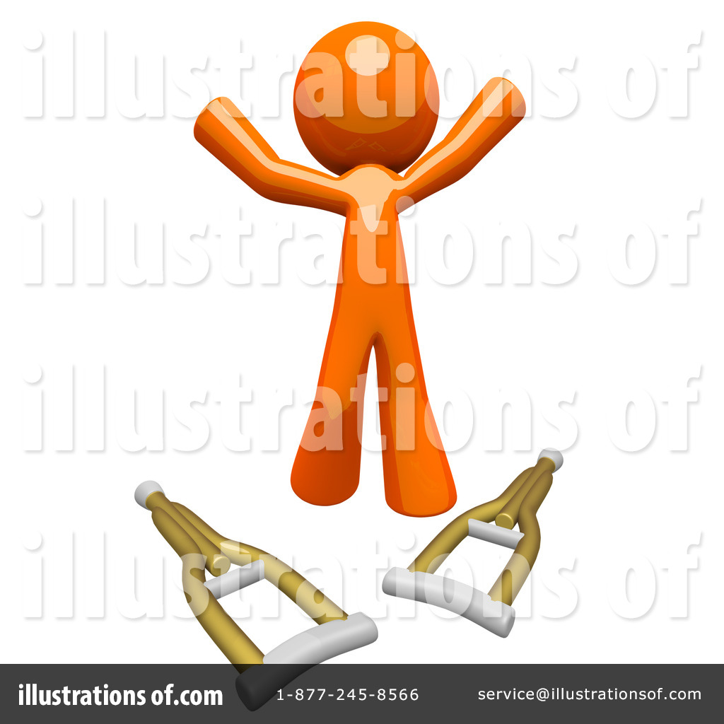 Crutches Clipart #1106338 - Illustration by Leo Blanchette