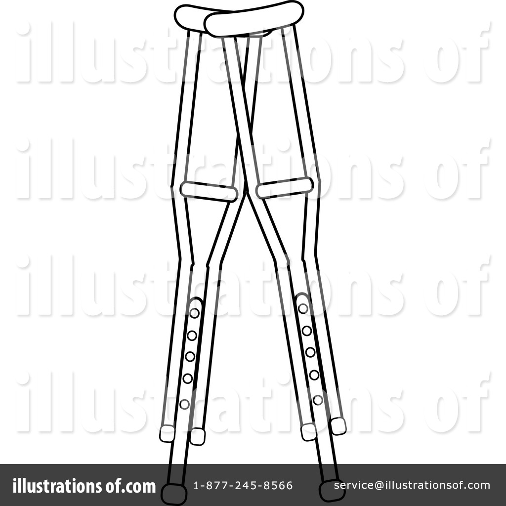 Crutches Clipart 1079157 Illustration By Pams Clipart