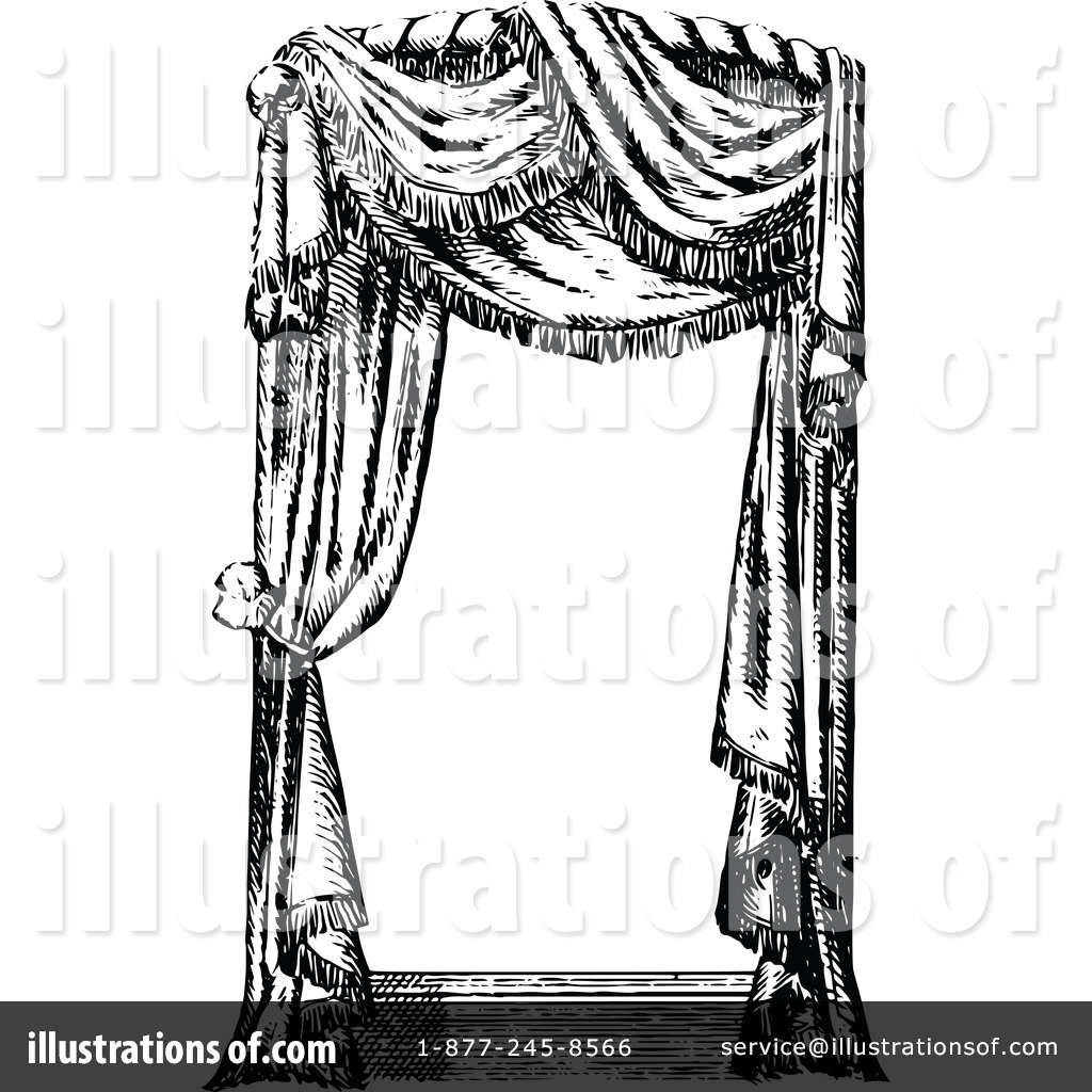 Royalty Free (RF) Curtains Clipart Illustration #1115302 By Prawny Vintage