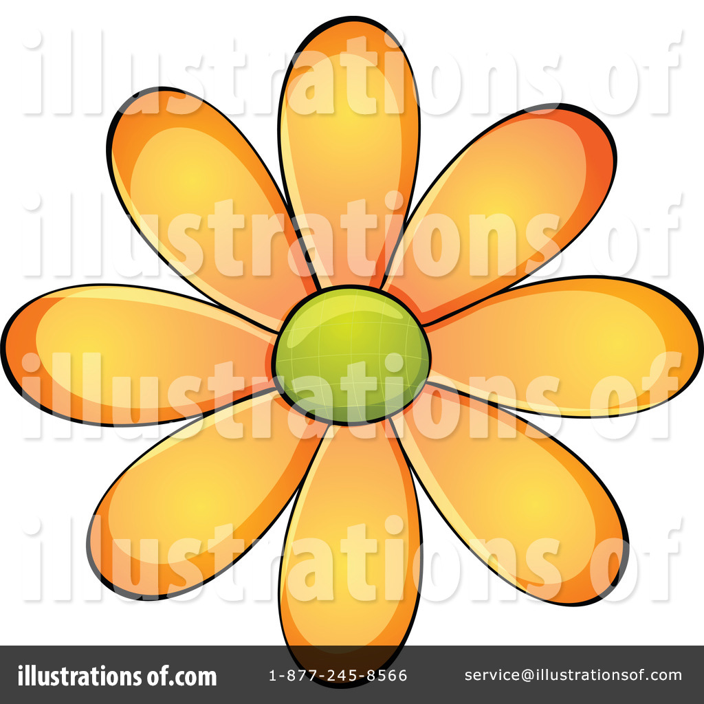 Daisy Clipart #1118224 - Illustration by colematt