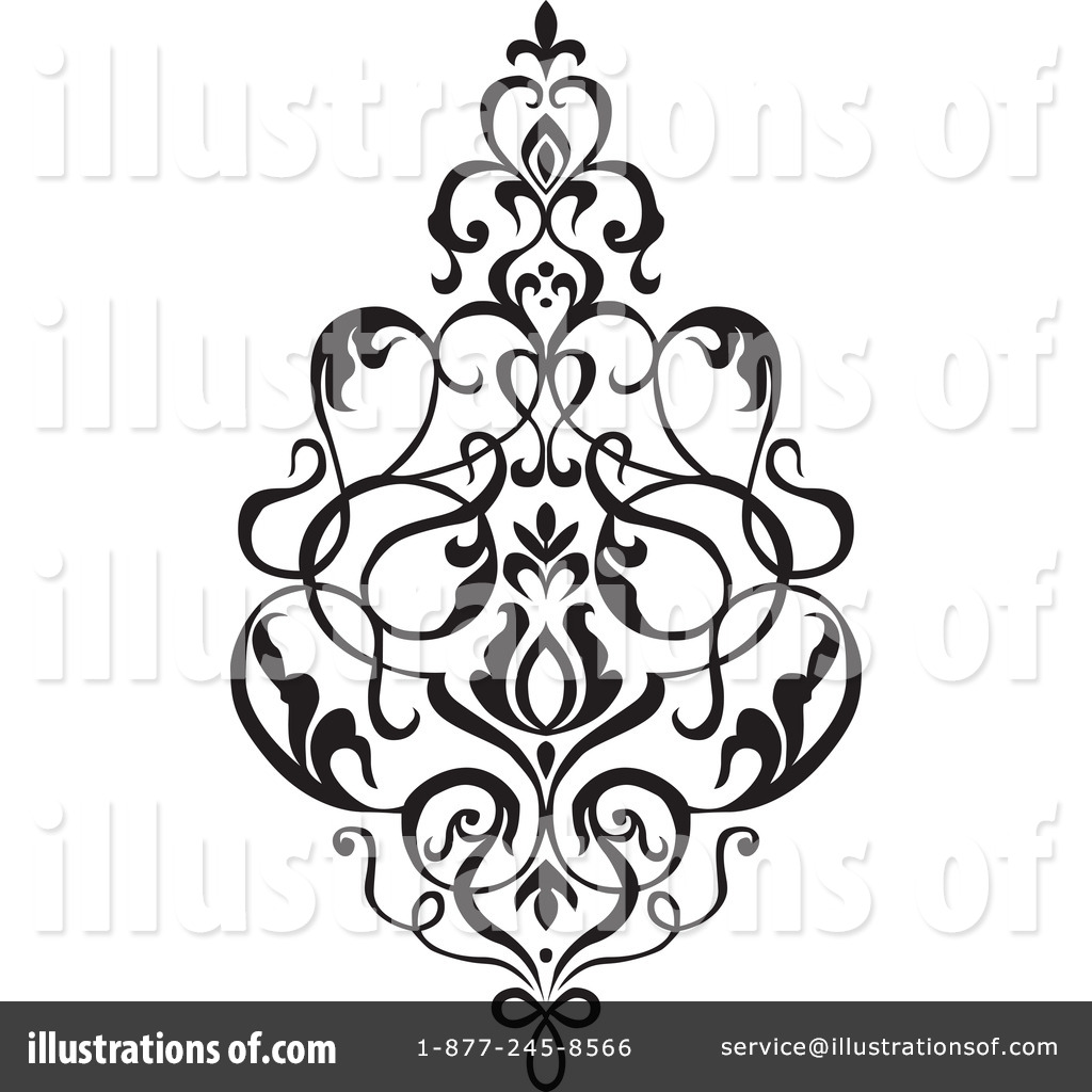 damask clipart 1049784 illustration by bestvector rh illustrationsof com  free damask pattern clip art