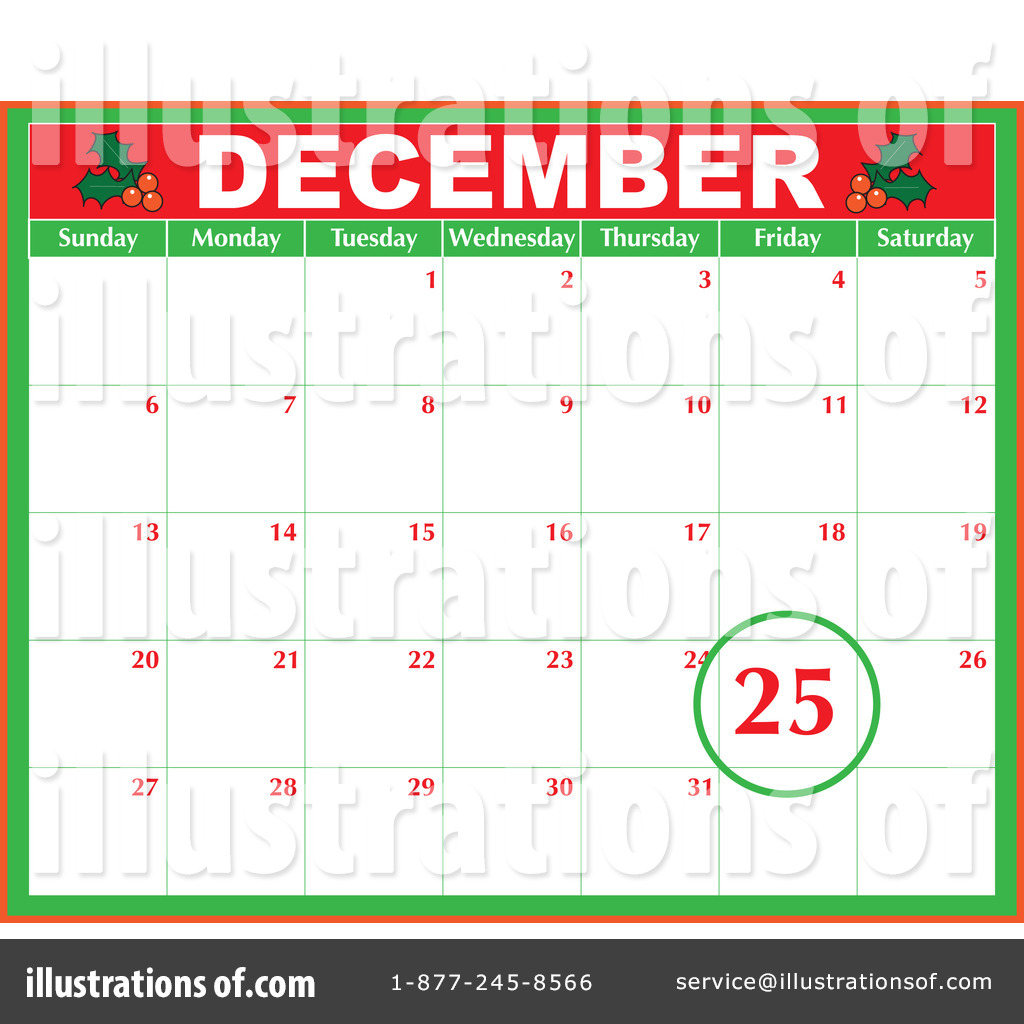December Clipart #75008 - Illustration by Maria Bell
