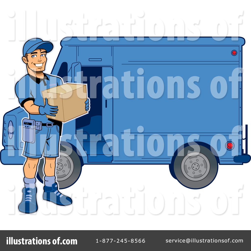 delivery man clipart 1364723 illustration by clip art mascots rh illustrationsof com ups delivery truck clipart ups delivery truck clipart