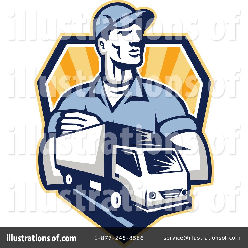 delivery man clipart #1222649 - illustrationpatrimonio