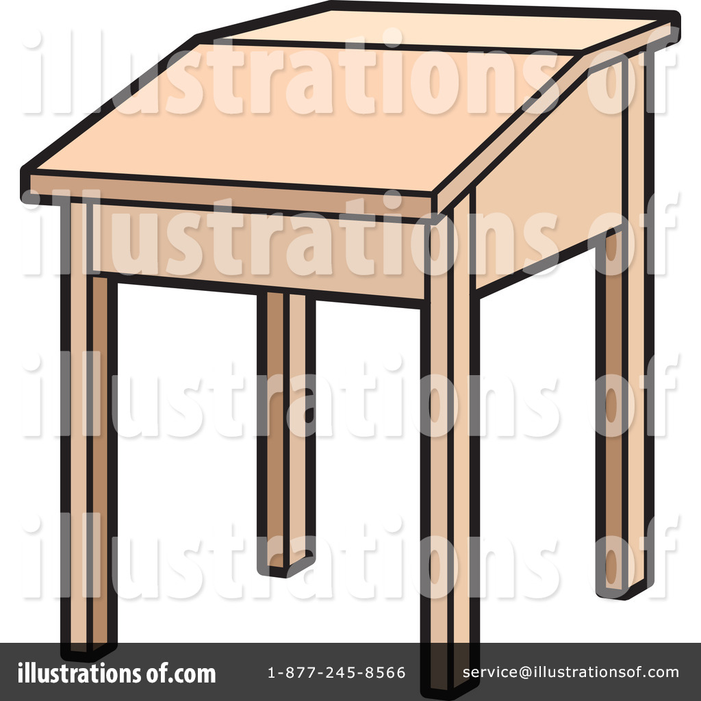 Desk Clipart #1093044 - Illustration by Lal Perera