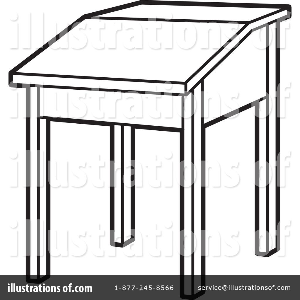 desk clipart black and white. royaltyfree rf desk clipart illustration 1093045 by lal perera black and white i