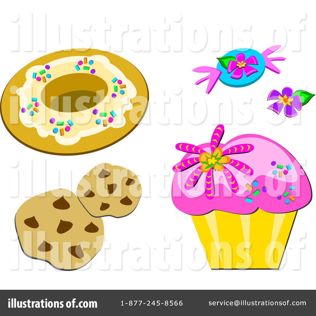 Desserts Clipart #1104684 - Illustration by bpearth