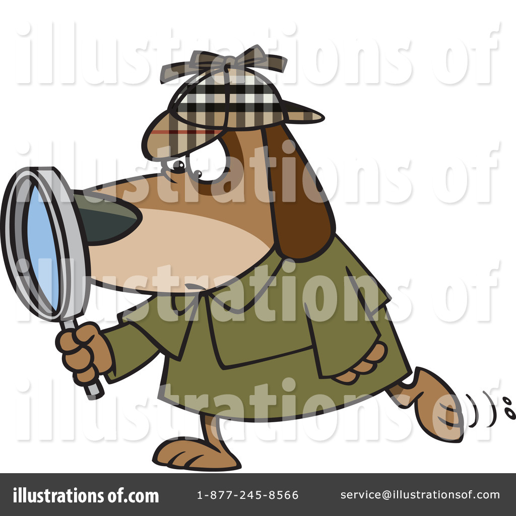 Detective Clipart #1112506 - Illustration by Ron Leishman