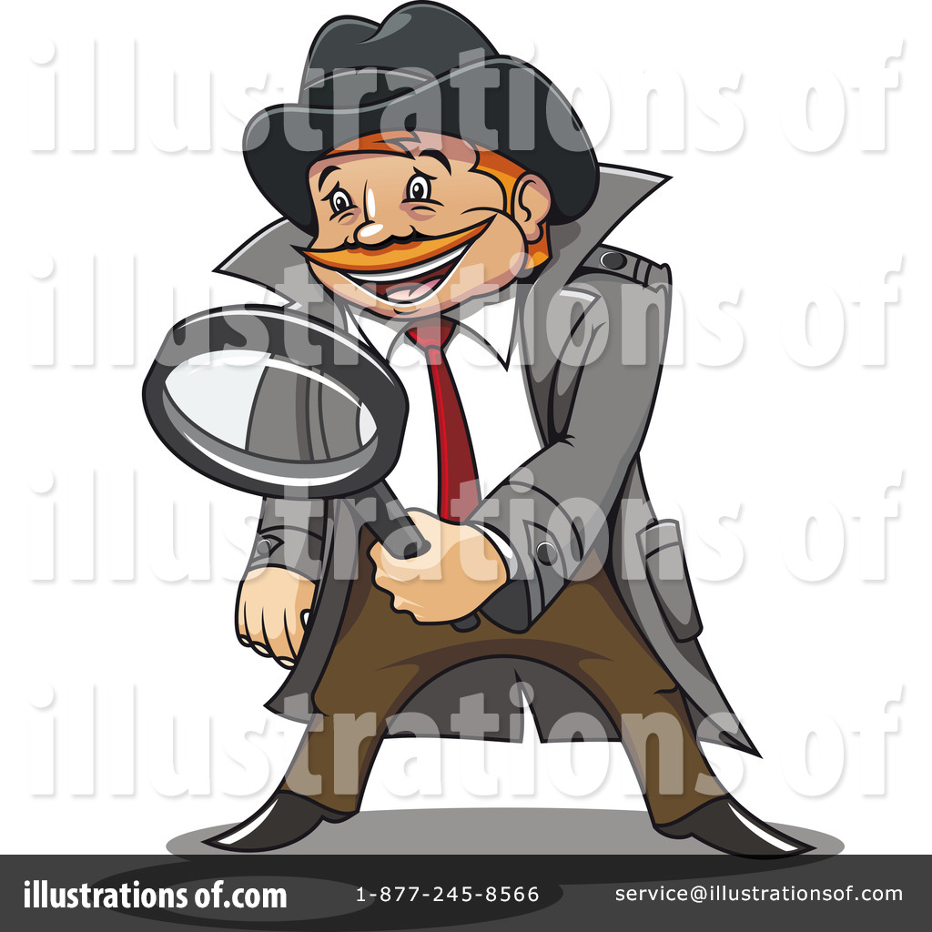 Detective Clipart #1066236 - Illustration by Vector Tradition SM