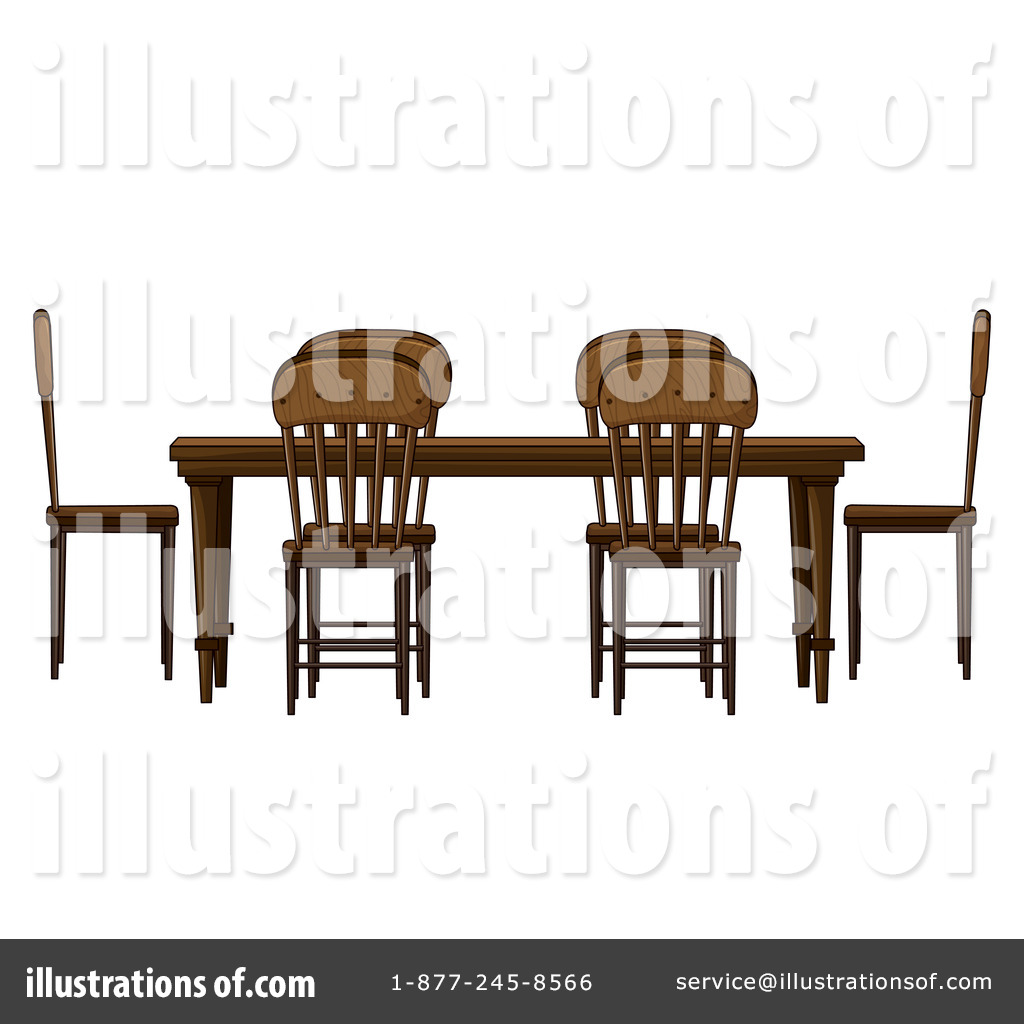 Dining Room Clipart #1165340 - Illustration by colematt