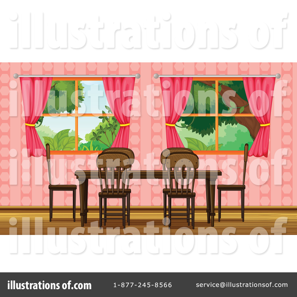 dining room clipart. royaltyfree rf dining room clipart illustration by graphics stock sample