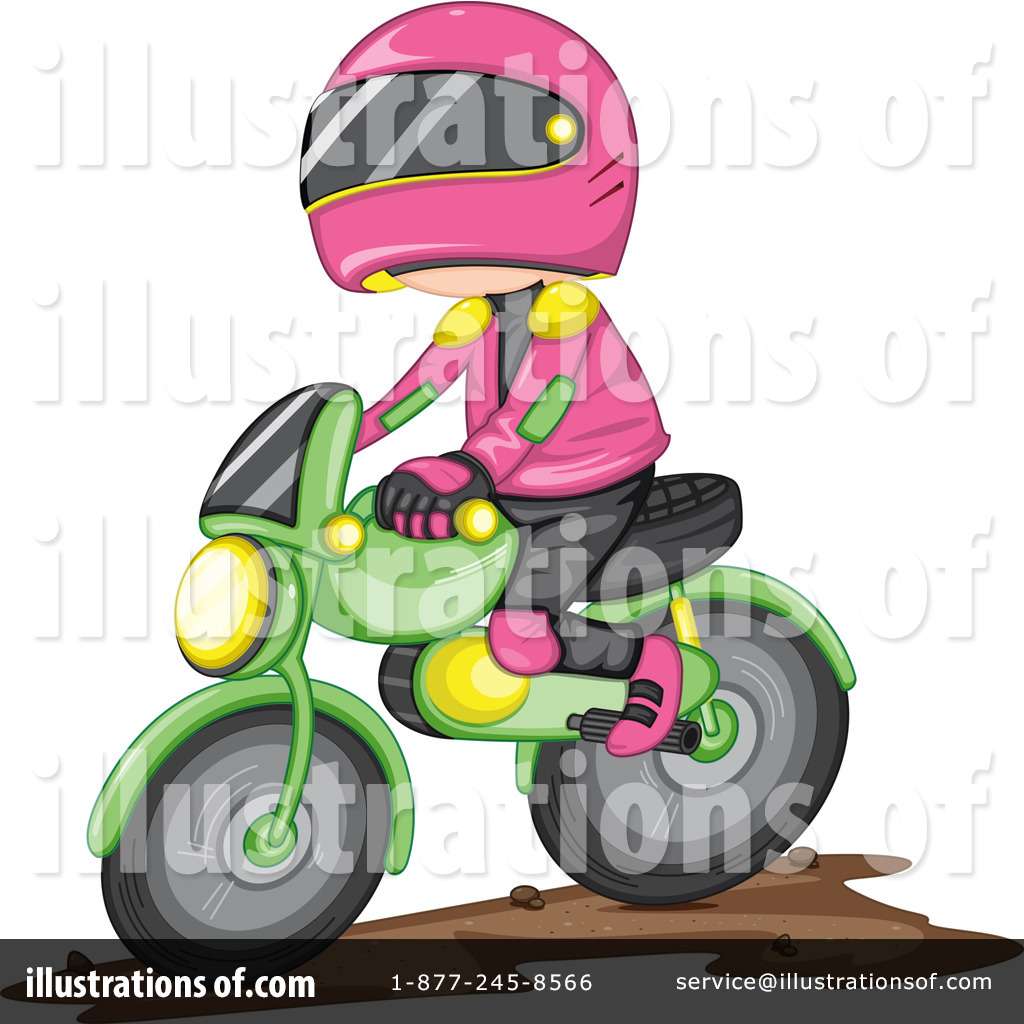 Dirt Bikes Clipart #1118110 - Illustration by colematt
